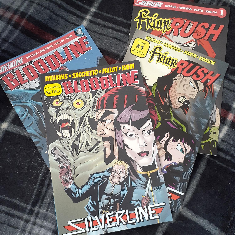 Silverline Comics, Roland Mann, Bloodline, Friar Rush, Meredith Loughran, merej99, comics, comic books, WildOne Forever